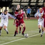 The Martlet midfield led the way. (Simon Poitrimolt / McGill Tribune)