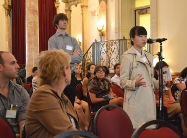 Laurin Liu at the Science and Policy Exchange (Cassandra Rogers / McGill Tribune)
