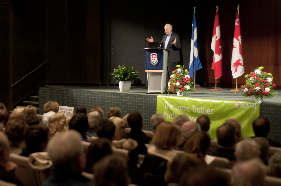 Dr. Walter Willett thinks we drink too much milk. (Simon Poitrimolt/ McGill Tribune)