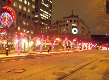 McGill College Ave. at Christmas (Melanie Simon / McGill Tribune)