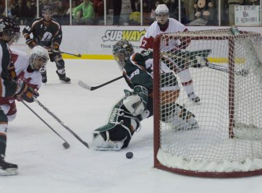 The Redmen scored twice on the power play in the first period. (Luke Orlando / McGill Tribune)