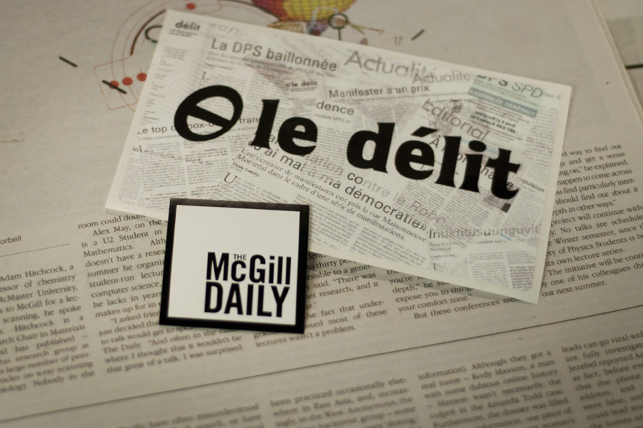 Both The McGill Daily and Le Délit will be affected by the upcoming referendum. (Simon Poitrimolt / McGill Tribune)