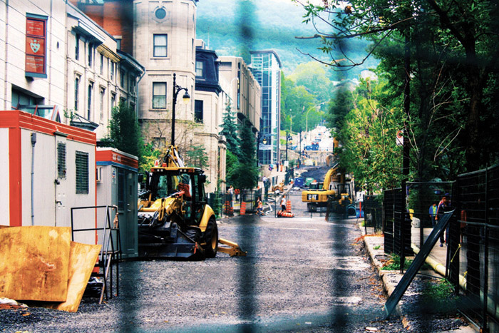 Construction along McTavish street