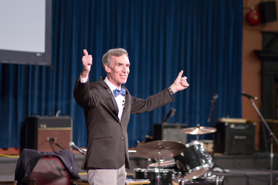 Bill Nye entertained and educated space enthusiasts. (Photo courtesy of The Varsity)