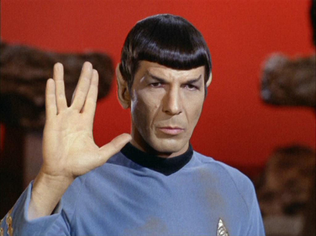 Mr. Spock shows his 2D:4D ratio.   (Photo courtesy of Wikia)