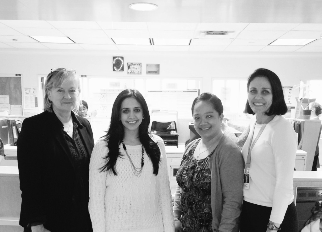 From left to right: Dr. Susan Law, Safina Adatia, Jennifer Somera, Marie-France Brizard. (Photo courtesy of Safina Adatia)