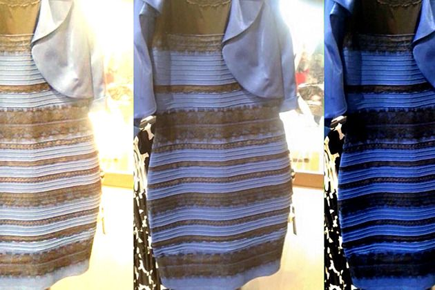 #TheDress is the perfect example of how the same image can be perceived differently.  (Photo courtesy of Yahoo)