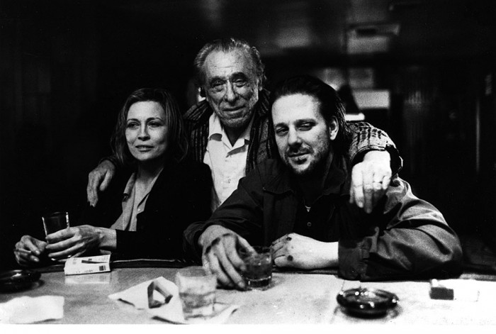 "Bukowski, Dunaway, and Rourke in ""Barfly"""