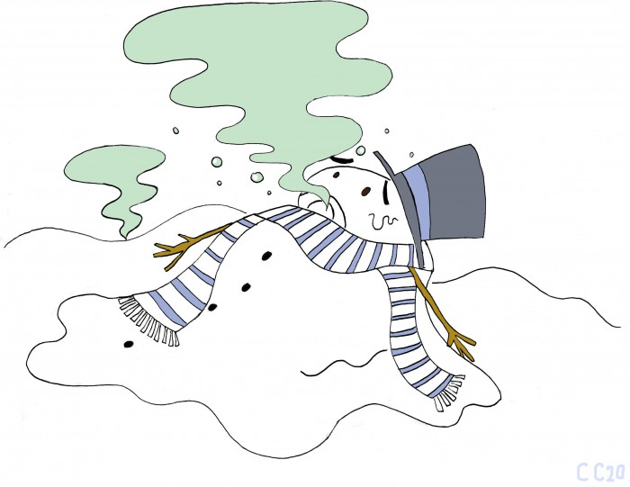 Snow easily absorbs air pollutants and can become toxic. (Cordelia Cho / McGill Tribune)