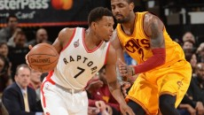 The Raptors' Kyle Lowry faces the Cavaliers' Kyrie Irving in the 2016 NBA Eastern Conference Final (nba.com)