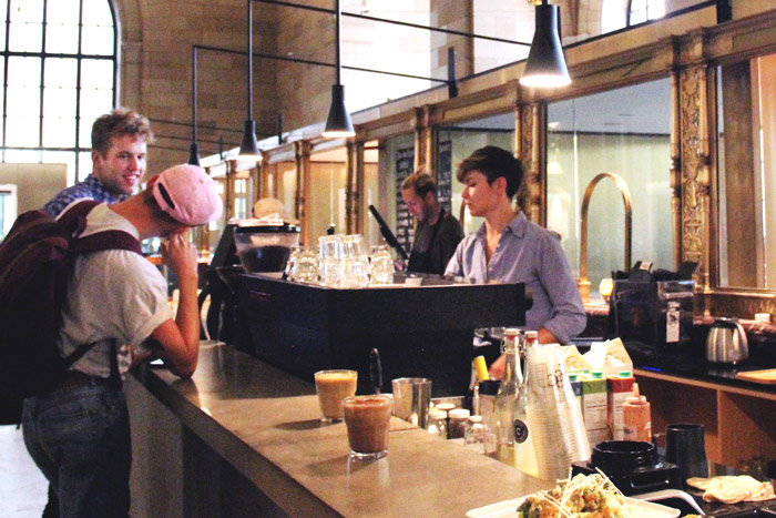 Crew Cafe & Collective serves coffee and meals for solo studiers and budding start-up founders. (Lauren Benson-Armer / McGill Tribune)