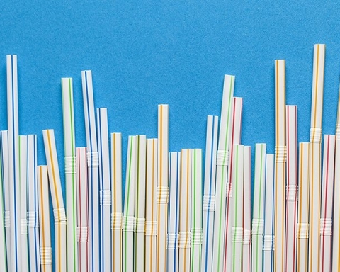 Straws and stir sticks make up only three per percent of garbage in the ocean.